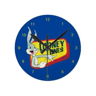 BUGS BUNNY™ LOONEY TUNES™ Retro Patch Round Clock