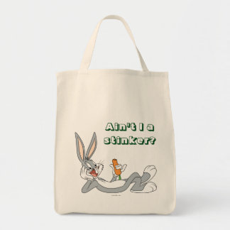 BUGS BUNNY™ Lying Down Eating Carrot Grocery Tote Bag