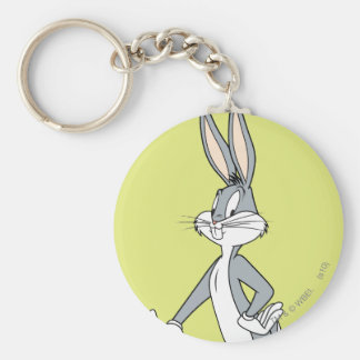 BUGS BUNNY™ Standing 3 Basic Round Button Key Ring