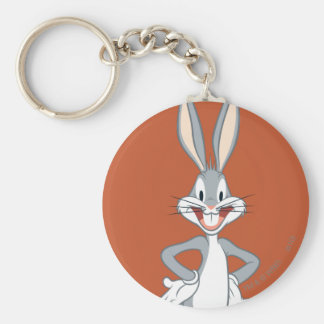 BUGS BUNNY™ Standing Basic Round Button Key Ring