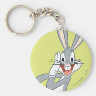 BUGS BUNNY™ Whispering 2 Basic Round Button Key Ring