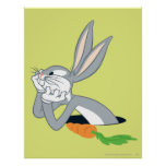 BUGS BUNNY™ with Carrot Poster