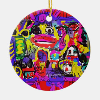 Bugs in The White House Abstract Ceramic Ornament
