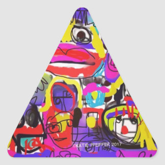 Bugs in The White House Abstract Triangle Sticker
