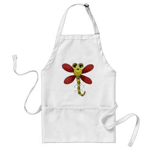 Bugs 'n' Blooms · Red & Green Dragonfly Apron