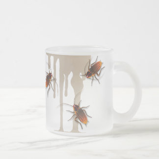 Bugzeez_Icky Sticky Roaches dripping glass mug
