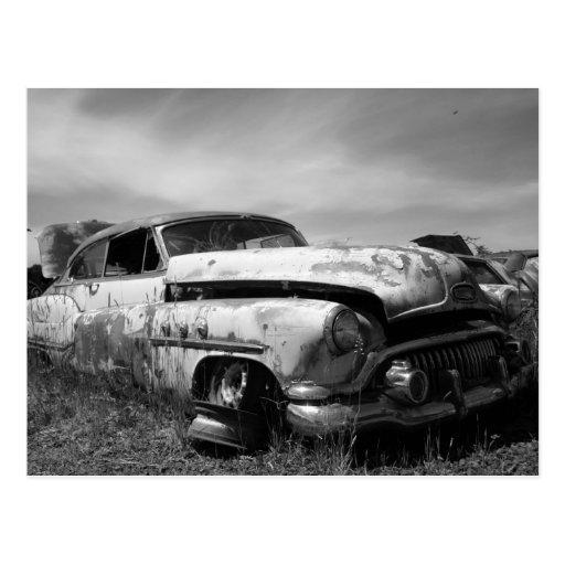 Buick Car In a Junkyard Postcards