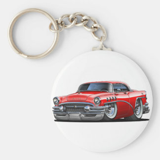 Buick Century Red Car Basic Round Button Key Ring