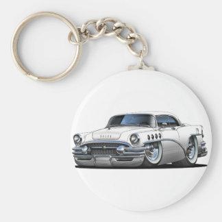 Buick Century White Car Basic Round Button Key Ring