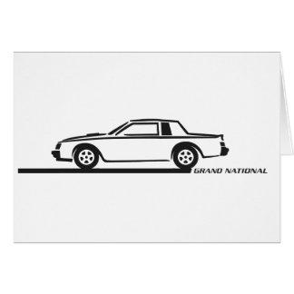 Buick Grand National Black Car Card