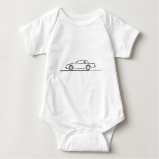 Buick Grand National Grey Car Baby Bodysuit