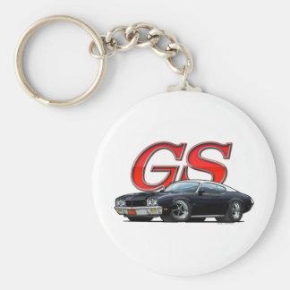 Buick_GS_BlackVW Basic Round Button Key Ring