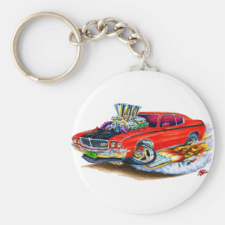 Buick GSX Red Car Basic Round Button Key Ring