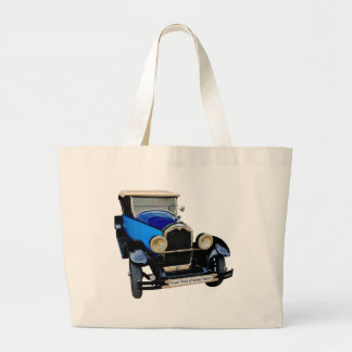 Buick with your text large tote bag