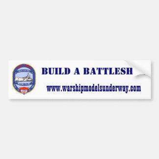 Build A Battleship Sticker Bumper Sticker