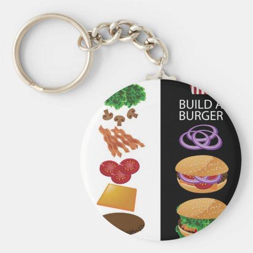 Build A Burger Key Chain