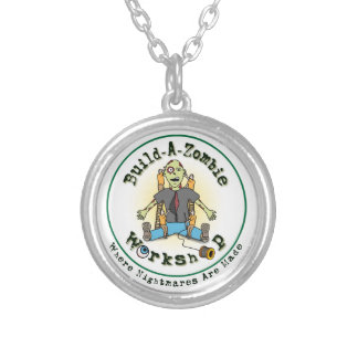 build a zombie silver plated necklace