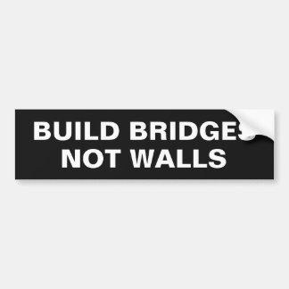 """Build Bridges"" custom color bumpersticker Bumper Sticker"