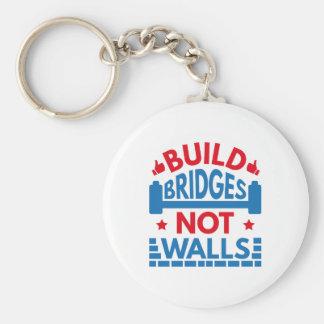 Build Bridges Not Walls Key Ring