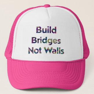 Build Bridges not Walls trucker hat