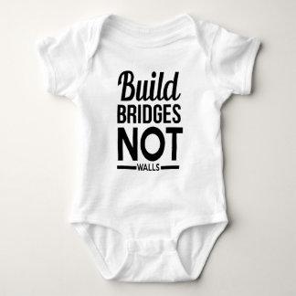 Build Bridges NOT Walls - USA Protest Immigrants Baby Bodysuit