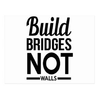 Build Bridges NOT Walls - USA Protest Immigrants Postcard