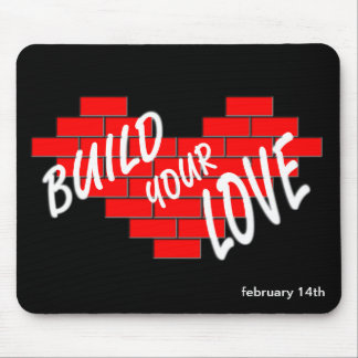 build love mouse pad