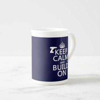 build-on.pngKeep Calm and Build On (any background Bone China Mug