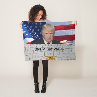 BUILD THE WALL FLEECE BLANKET