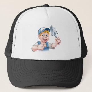 Builder Bricklayer Construction Worker Trowel Tool Trucker Hat
