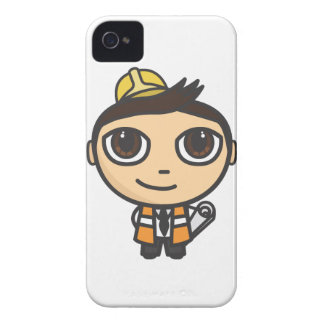 Builder Cartoon Character iPhone 4/4S Case-Mate ID iPhone 4 Covers