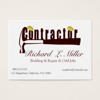 Builder Constructing Contractor Business Card