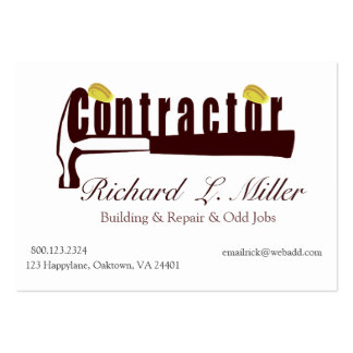 Builder Constructing Contractor Pack Of Chubby Business Cards