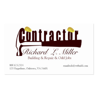 Builder Construction Contractor Mens Tools Pack Of Standard Business Cards