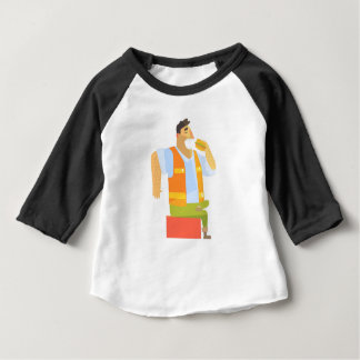 Builder Eating Lunch On Construction Site Baby T-Shirt