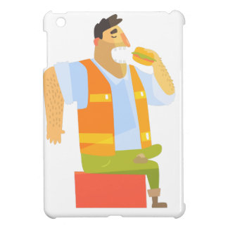 Builder Eating Lunch On Construction Site iPad Mini Cases