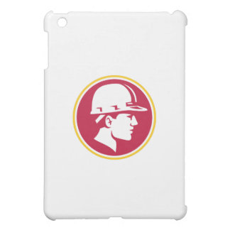 Builder Hardhat Side Circle Retro Case For The iPad Mini