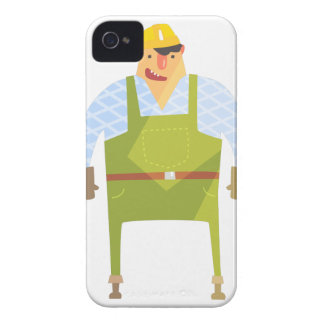 Builder In Hard Hat On Construction Site iPhone 4 Case-Mate Case