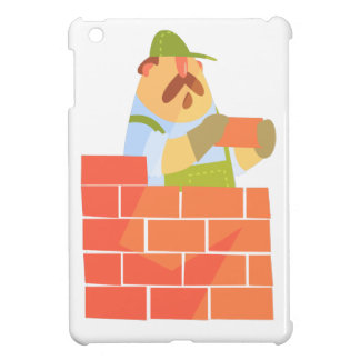 Builder Laying A Brick Wall On Construction Site Case For The iPad Mini