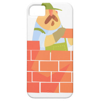 Builder Laying A Brick Wall On Construction Site iPhone 5 Case
