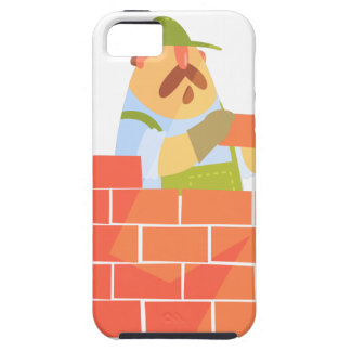 Builder Laying A Brick Wall On Construction Site iPhone 5 Cover