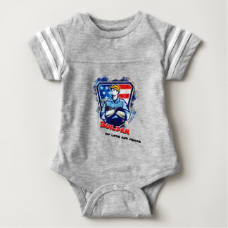 Builder of love and peace baby bodysuit