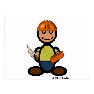 Builder (plain) postcard