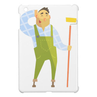 Builder Scratching Head On Construction Site iPad Mini Cover