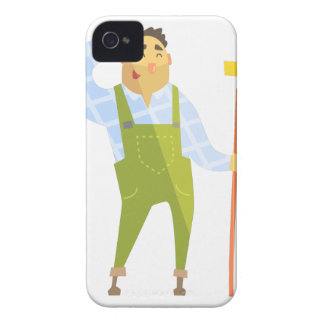 Builder Scratching Head On Construction Site iPhone 4 Case