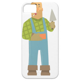 Builder With Brick And Trowel On Construction Site Barely There iPhone 5 Case
