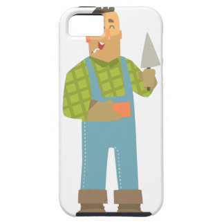 Builder With Brick And Trowel On Construction Site iPhone 5 Cover