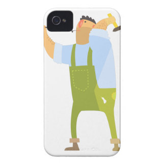 Builder With Hammer And Nails On Construction Site Case-Mate iPhone 4 Case