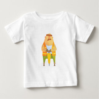 Builder With Jackhammer On Construction Site Baby T-Shirt