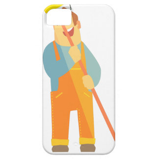 Builder With Painting Roll On Construction Site Case For The iPhone 5
